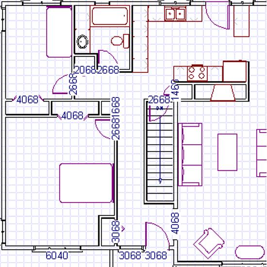 Как рисовать дом внутри.